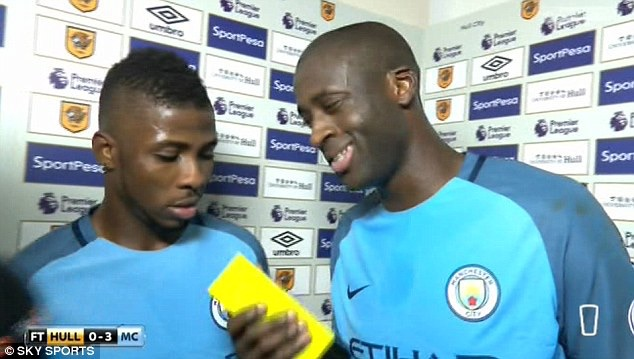 Yaya Embarasses Iheanacho Over Man Of The Match Mix-Up On Live TV